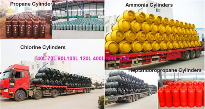 Cl2 / Nh3 / O2 Seamless Steel Gas Cylinder 400L 800L Capacity Leak Proof