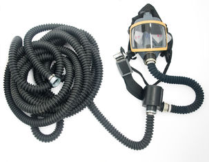 China Long Tube Self Suction Full Face Gas Mask For Polishing Technical Standard supplier