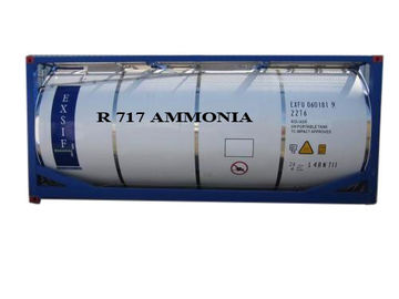 Industrial Ammonia Refrigeration , R717 Ammonia Gas Safety ISO Tanks Packaged