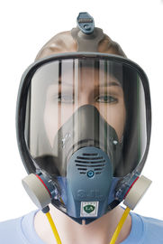 China BTV Rubber And Plastic Full Face Dust Mask For Tunnelling Long Single Tube factory